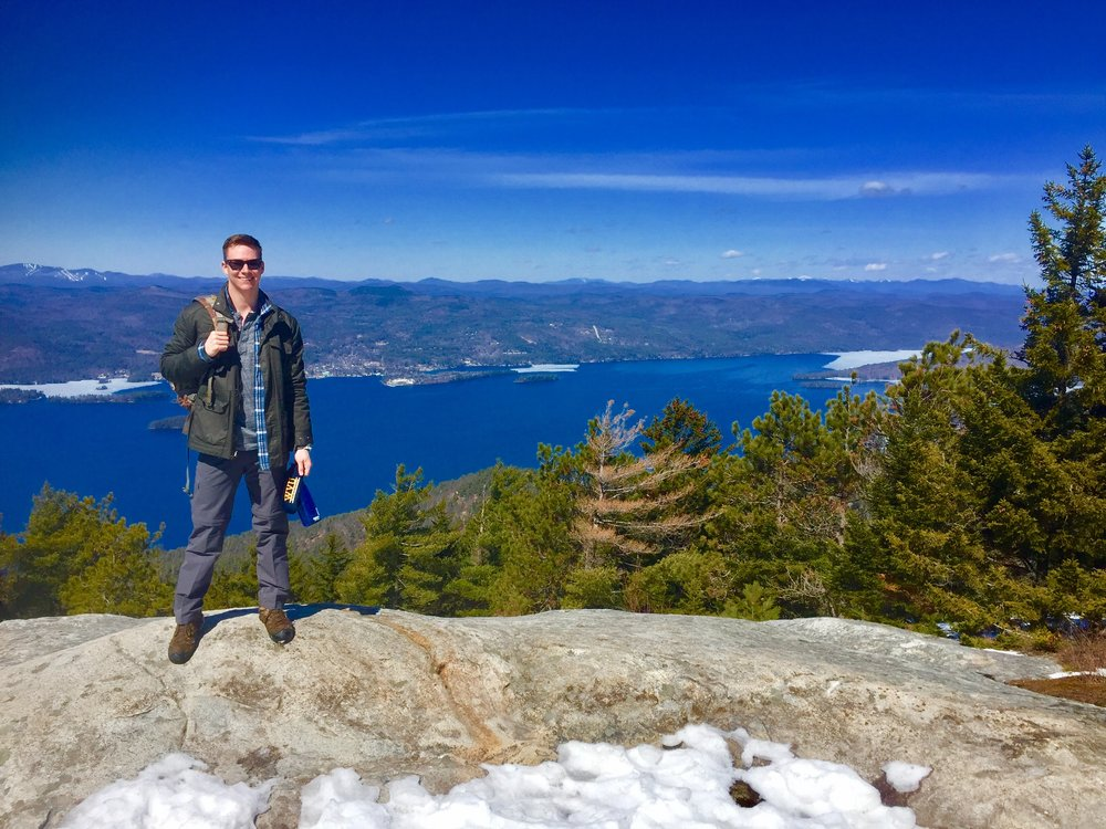 Me with a great shot of Lake George in the background from Buck's summit.