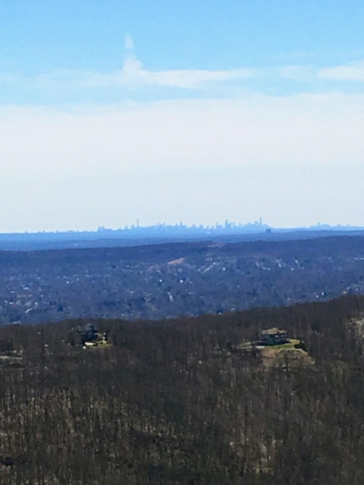 NYC skyline in the distance