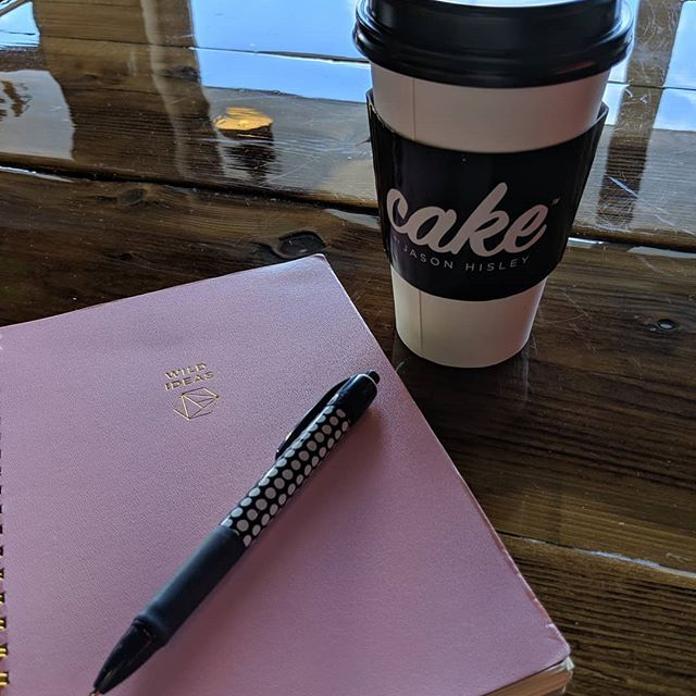 Business planning is best done over coffee and cupcakes and in a notebook titled #wildideas (because that's what this  kids art studio is right?) Thanks @baltimorebookkeeper for the time and brain power! #smallbusinessowner #businessplanning #entrepreneur #coffee #cake #2019goals