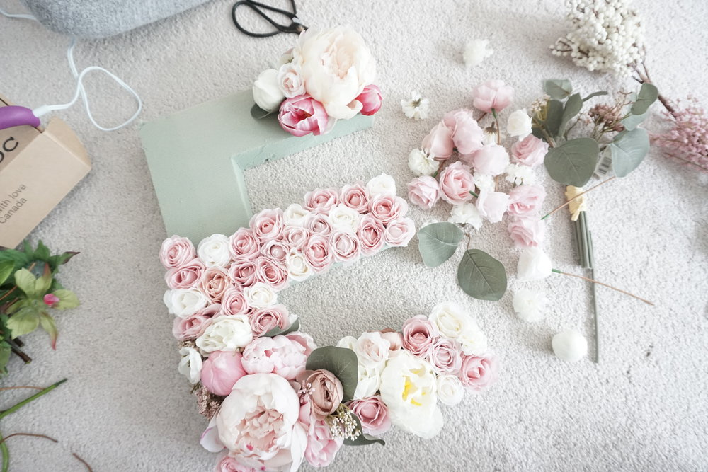 Diy Flower Letters Chic Style Living
