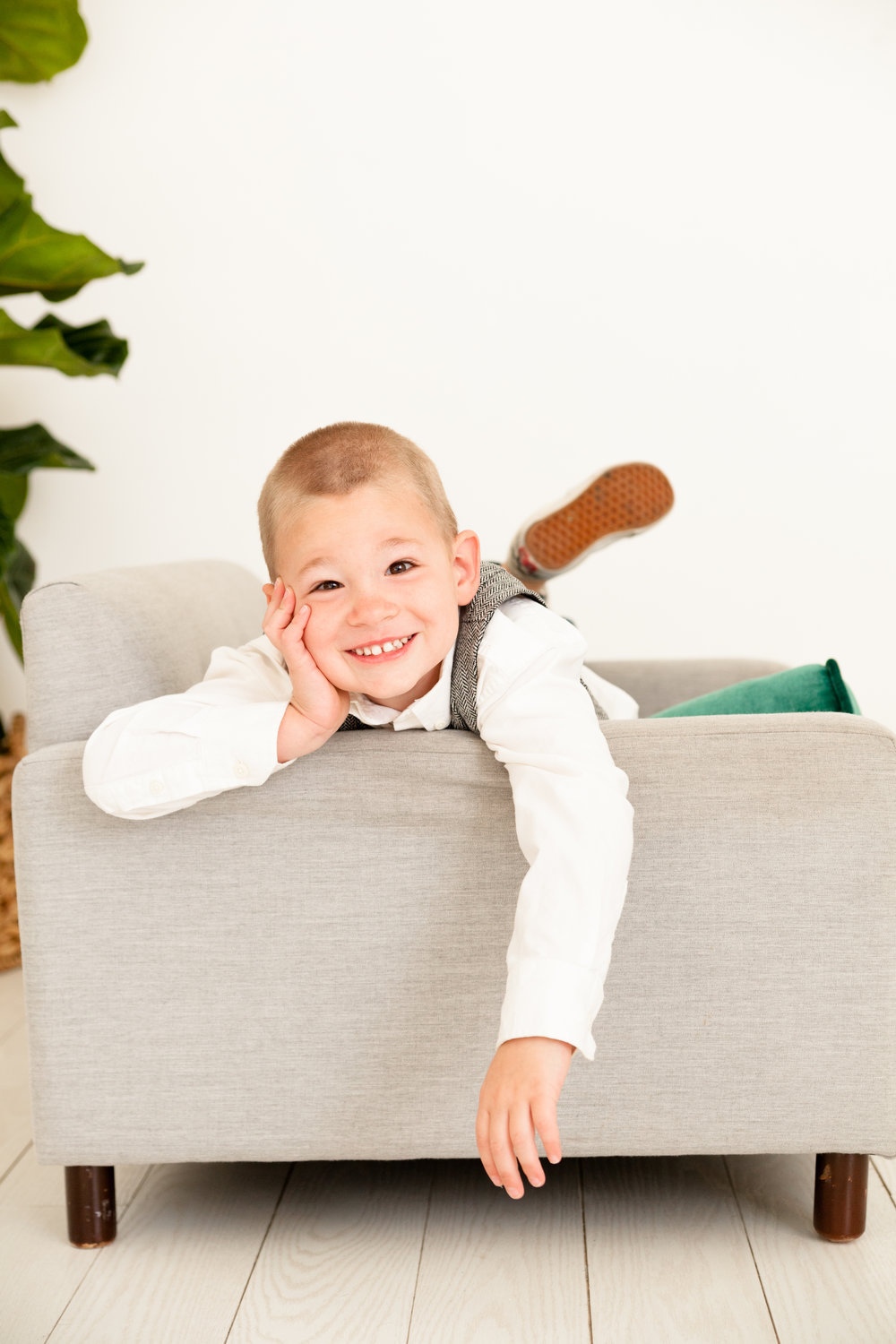 toddle boy lumen room family styled session dallas texas