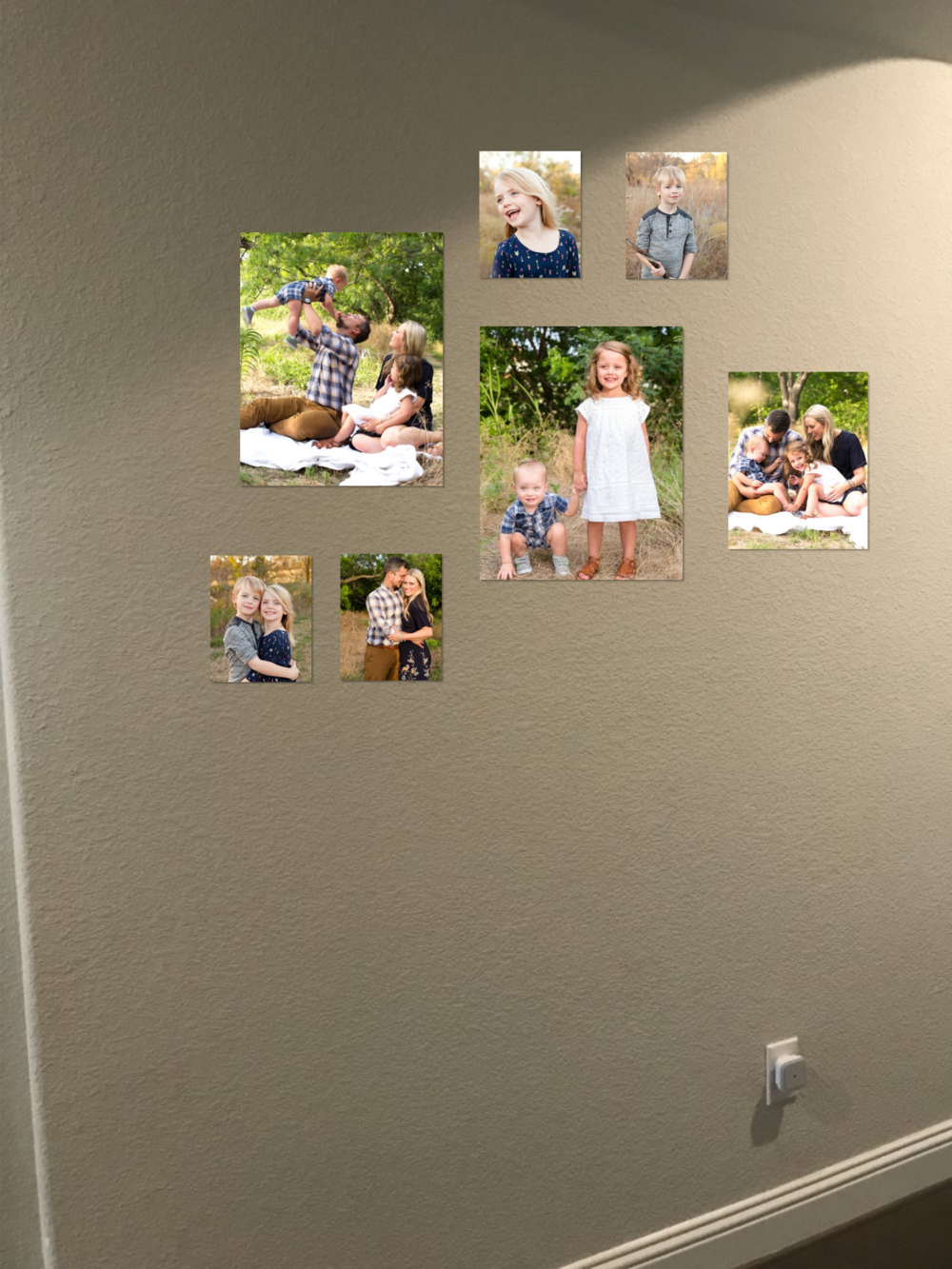 Gallery total: $883  Collection includes: four 8x10 image wraps, one 11x14 image wrap, & two 16x20 image wraps