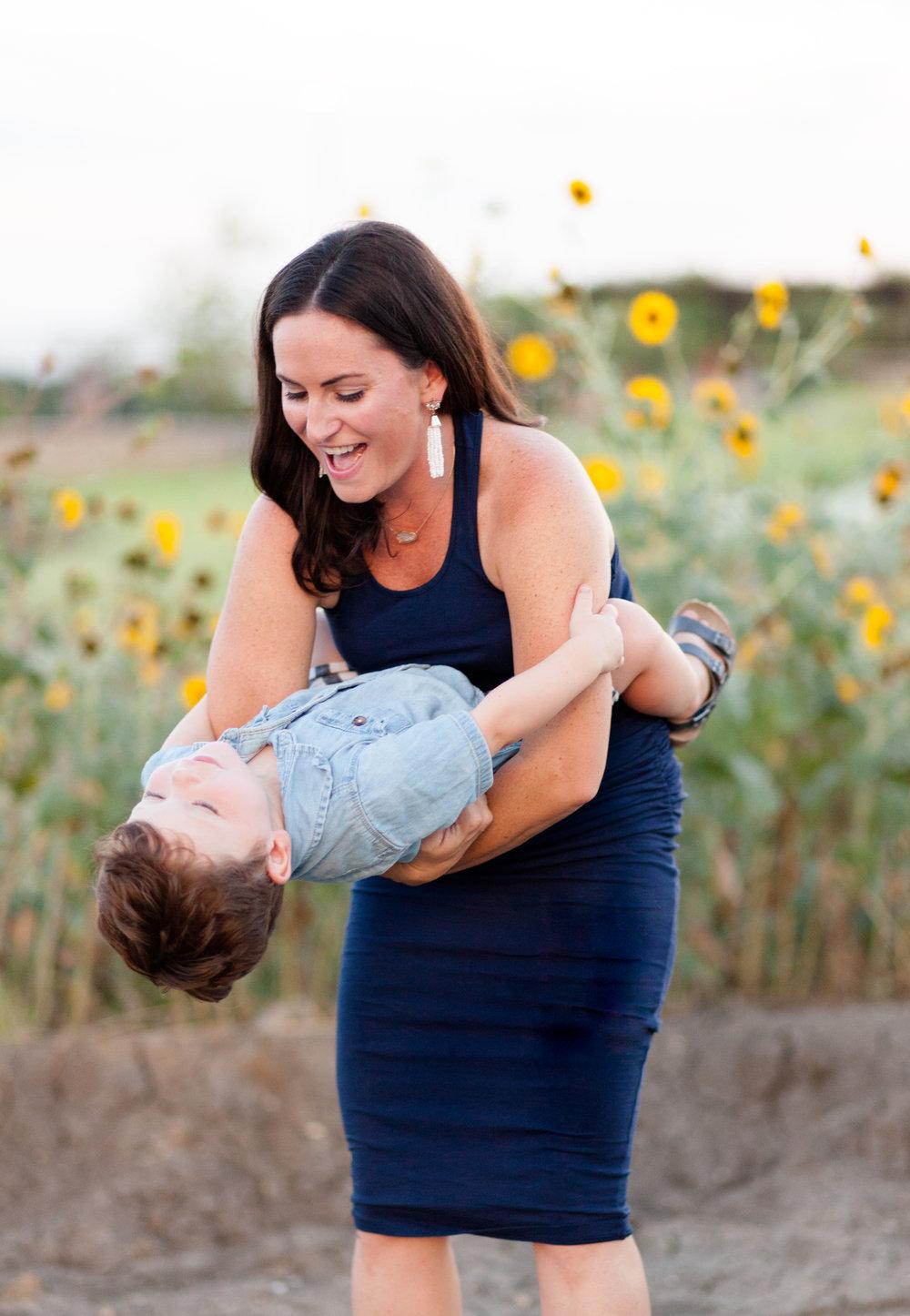 Mom and Boy candid photo