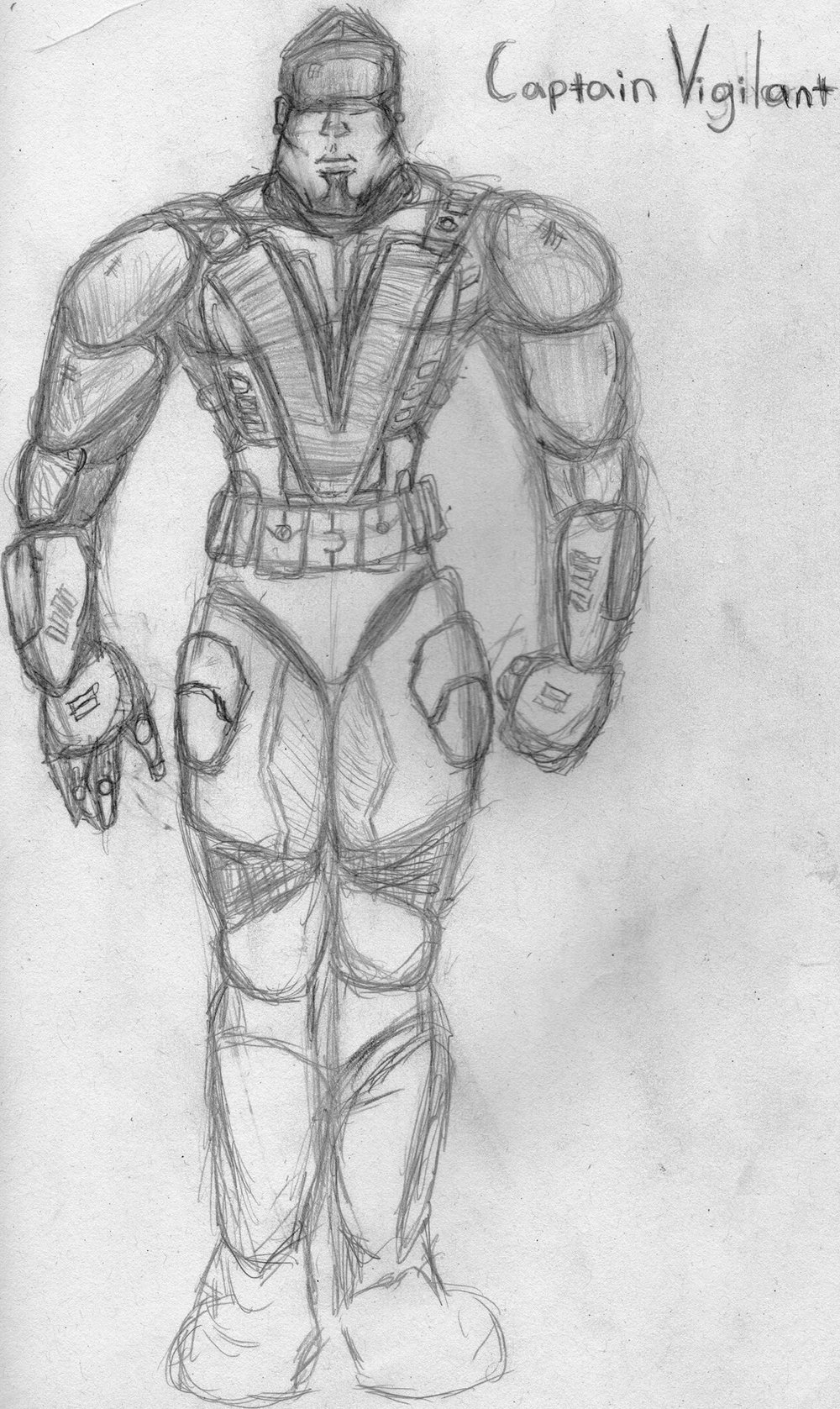 Costume Design for Capt. Vigilant - The results were crafted by Arianna Ward