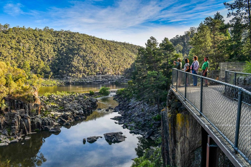 The Jewel of Launceston tour, view to First Basin at Cataract Gorge Reserve, Launcesonton.