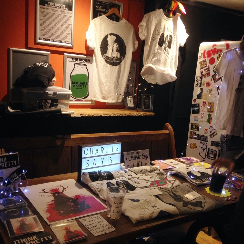 Think Pretty / No Violet / Charlie Says merch
