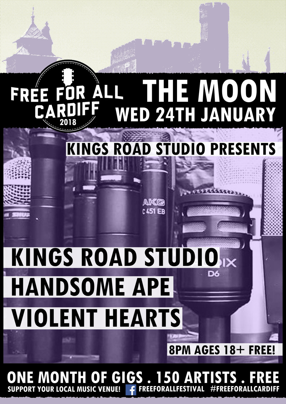 Kings Road Studio: Live At The Moon - Free For All