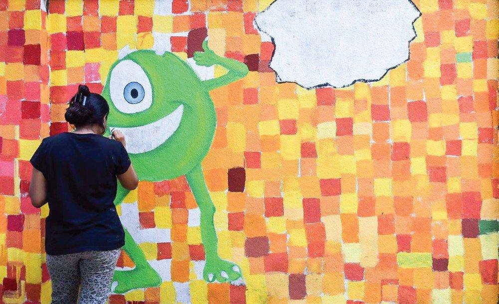 Awareness through wall art — shikha kanakia