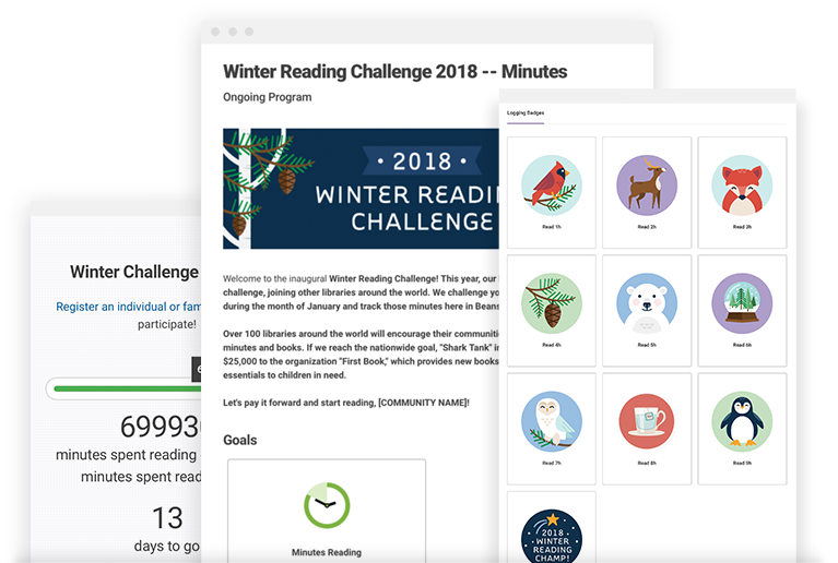 Annual Winter Reading Challenge - This reading program, for which we provide both