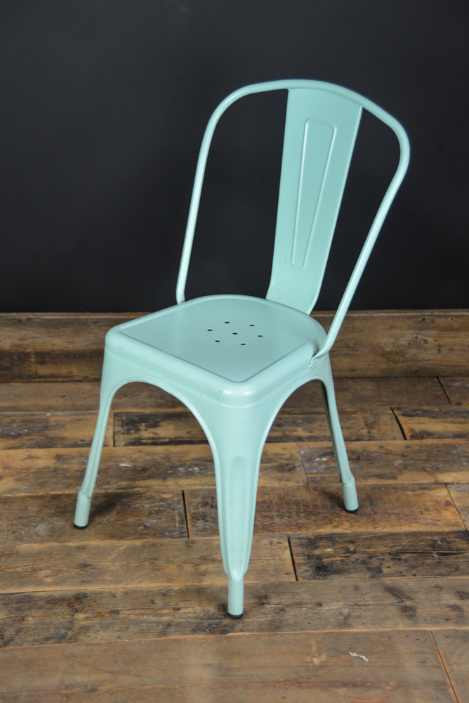 Industrial Metal Chair. Turquoise ...