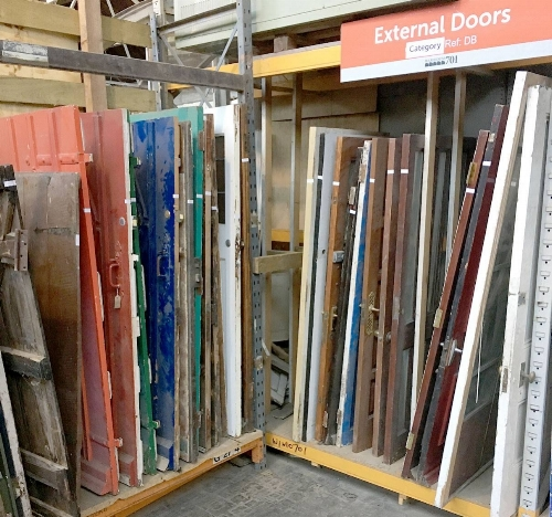 Reclaimed External Doors at Warehouse 701, Hereford