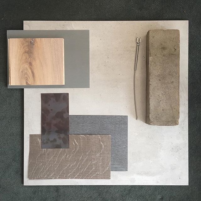 Samples coming together for our new build house in south Edinburgh.  #edinburgharchitecture  #scottisharchitecture  #modernhousedesign #taylormaxwell  #porcelanosa  #russwood  #vmzinc.  #oakveneer