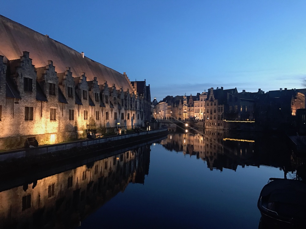 Ghent at night.