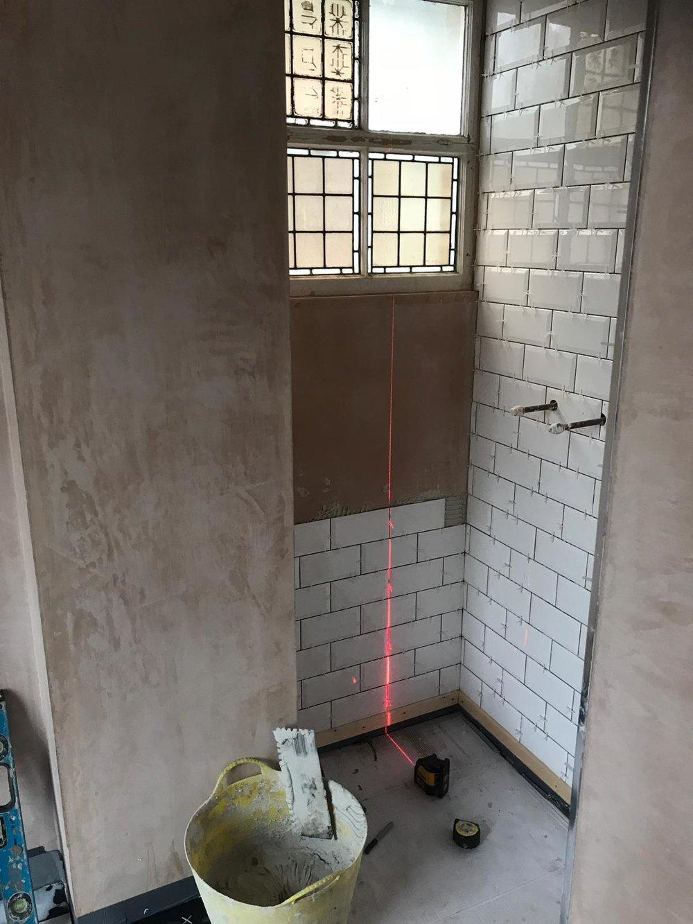 Warburton During Wetroom Tile 2.JPG
