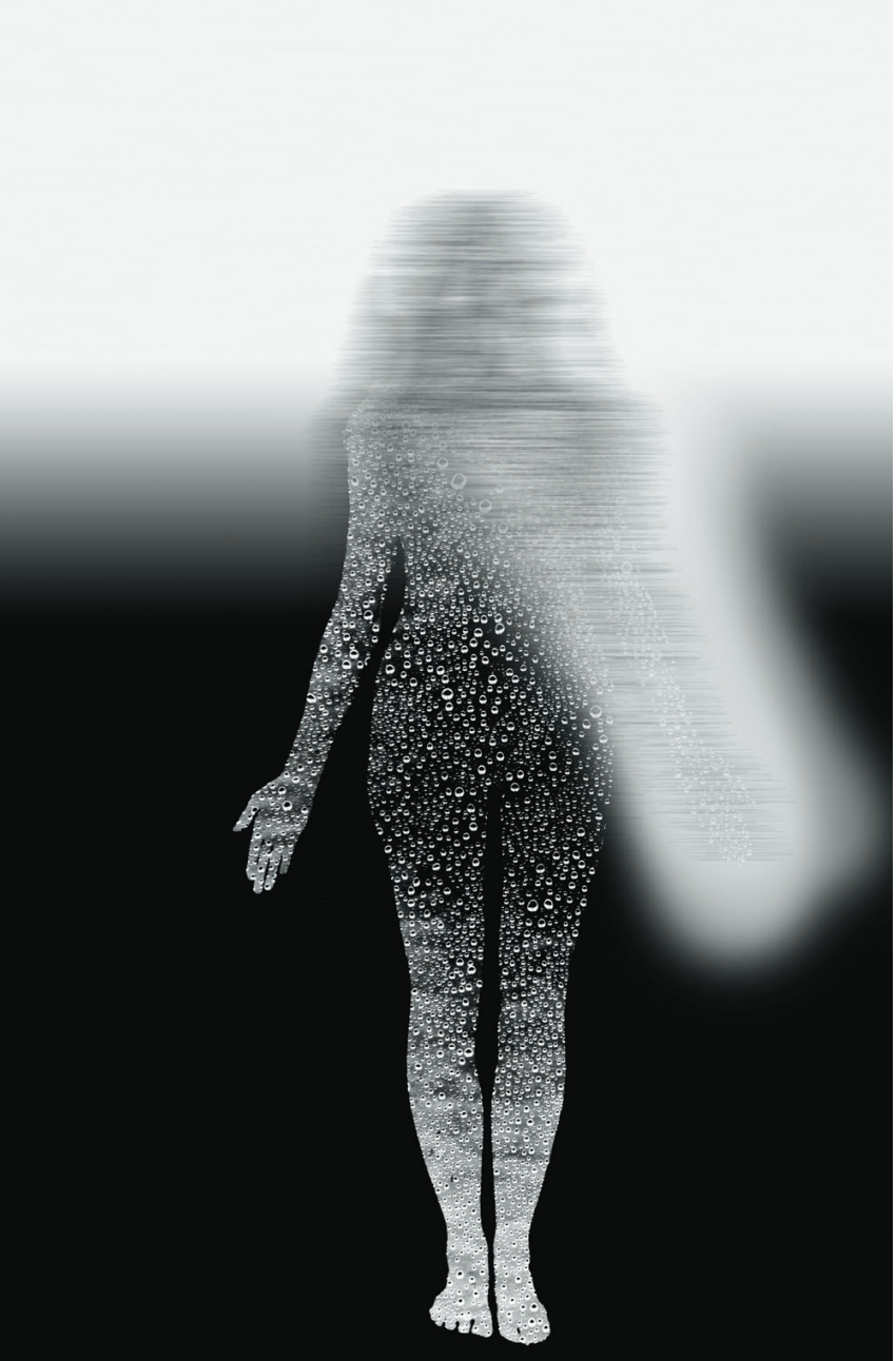 Water Woman Black to White,  1995, Archival digital print, 128 x 82.5 cm