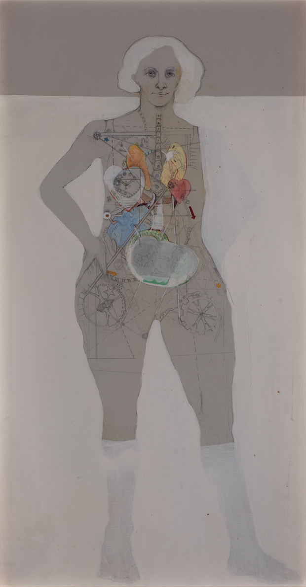X-Ray Woman , 1963, Acrylic, graphite, and ink on canvas, 93 × 48.9 cm Private collection, the Netherlands