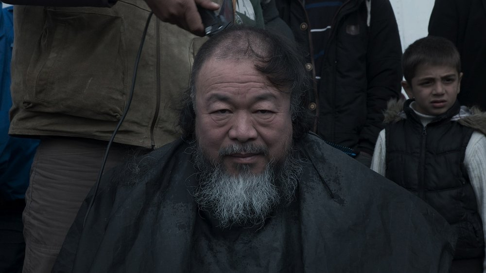 Production Still from  Human Flow  feat. Director, Artist, Activist—Ai Weiwei