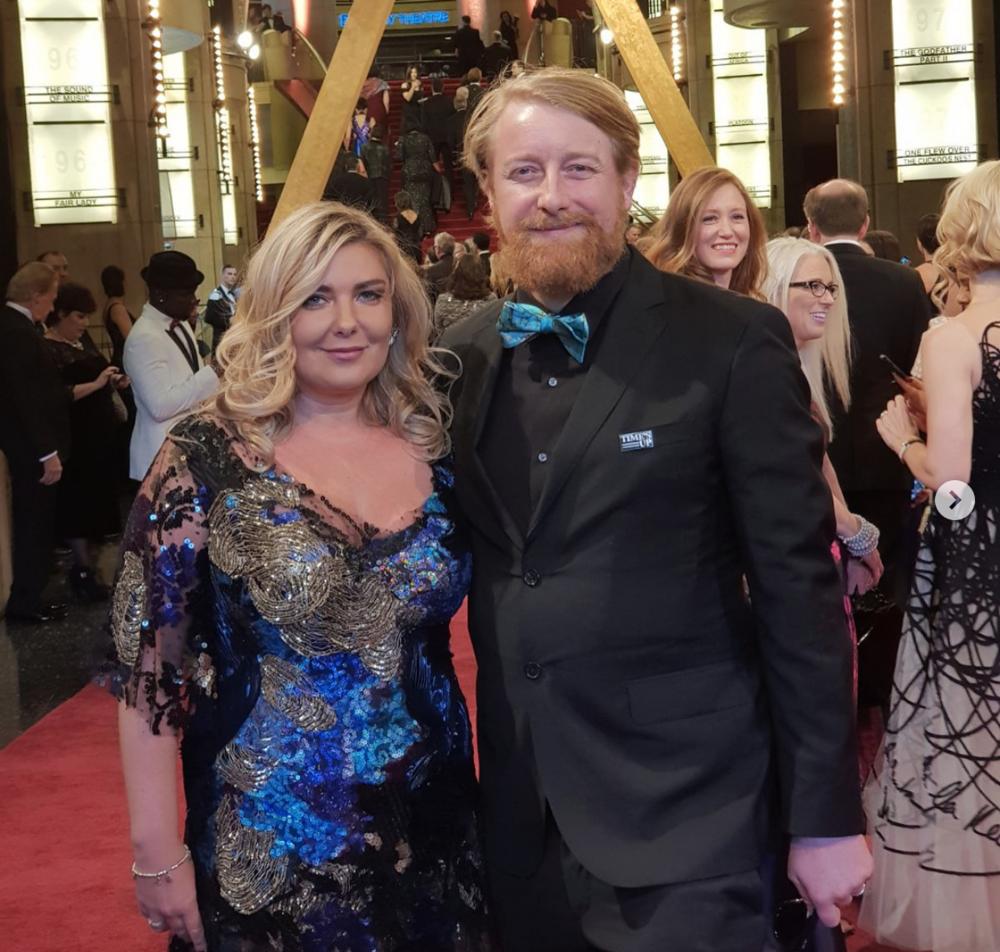 Dorota Kobiela and Hugh Welchman at the 90th Academy Awards - courtesy of  @dorota_kobiela