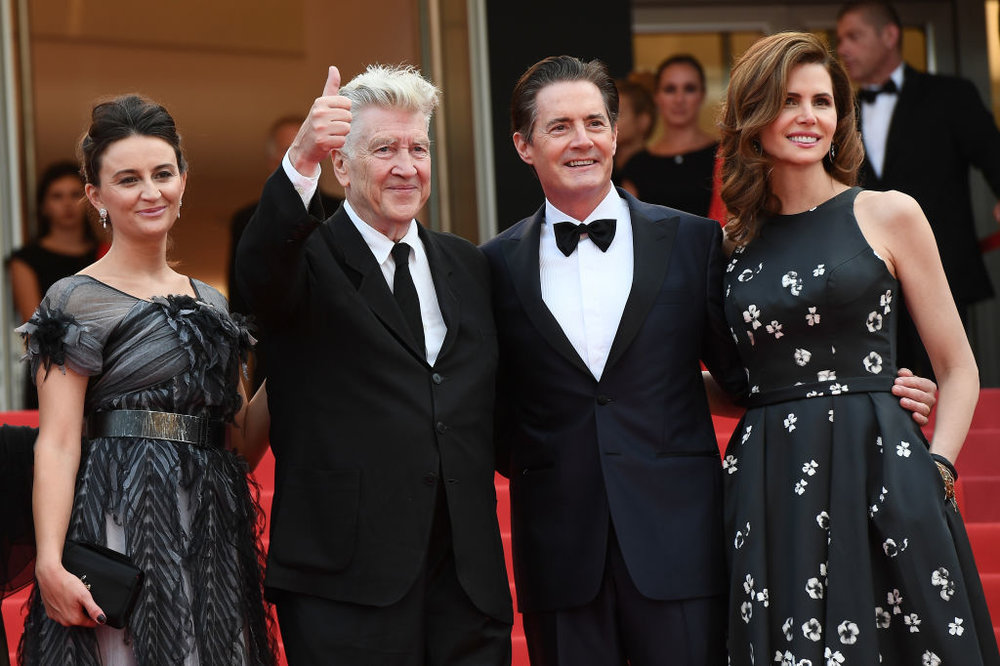 Emily Stolfe, David Lynch, Kyle MacLachlan, and Desiree Guber,  Twin Peaks  Cannes gala premiere - Photo by Matthias Nareyek/Getty Images Entertainment / Getty Images