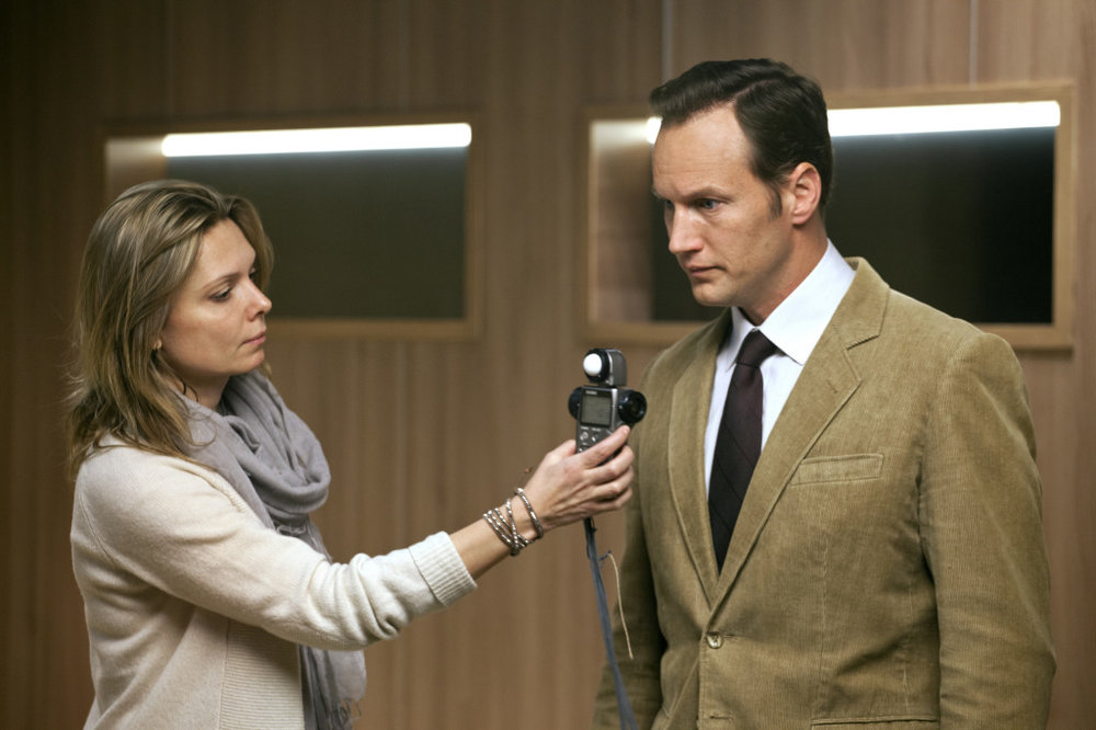 Magdalena Gorka on set of  Jack Strong  with actor Patrick Wilson