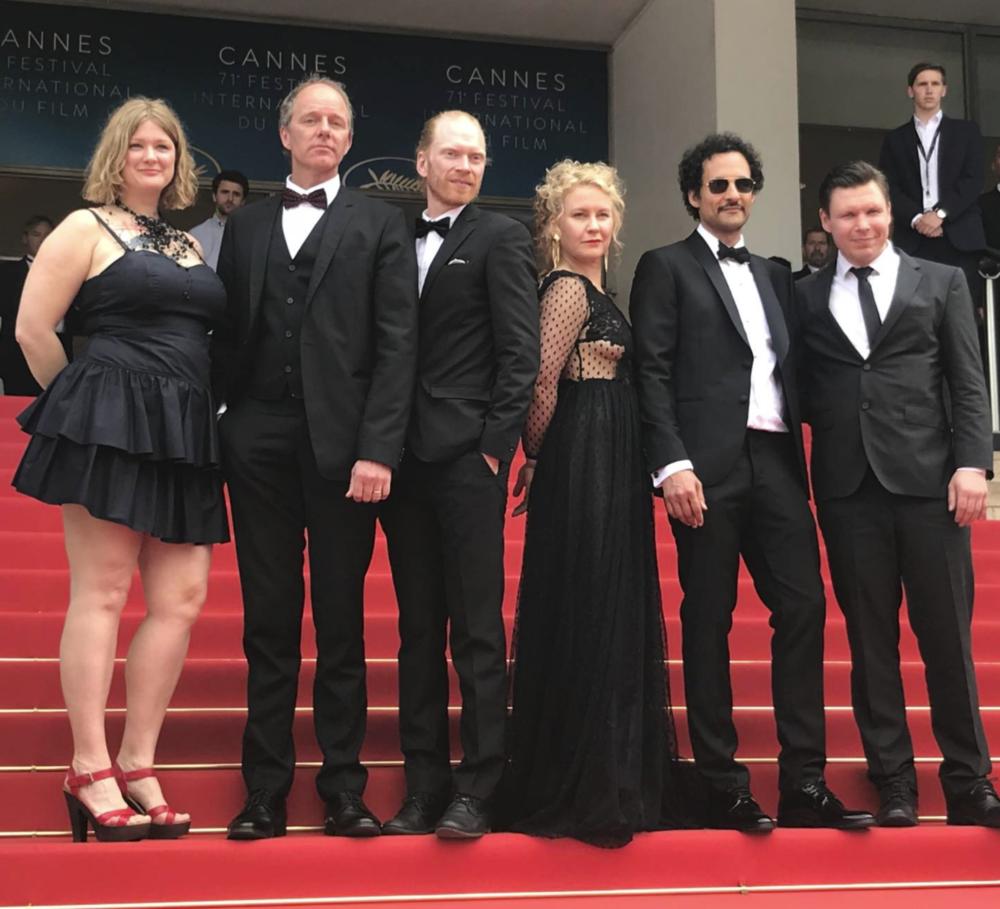 Gräns  (Border) red carpet at the 71st edition of Festival de Cannes, Isabella Eklöv, John Ajvide Lindqvist, Jörgen Thorsson, Eva Melander, Ali Abbasi, Eero Milonoff / Image Credit: Erik Dalström - courtesy of Nordisk Film and TV Fund [ Source ]