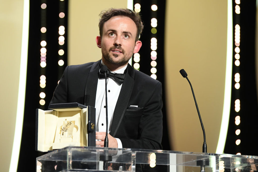 Charles William accepts the Palme d'Or Prize for Short Film