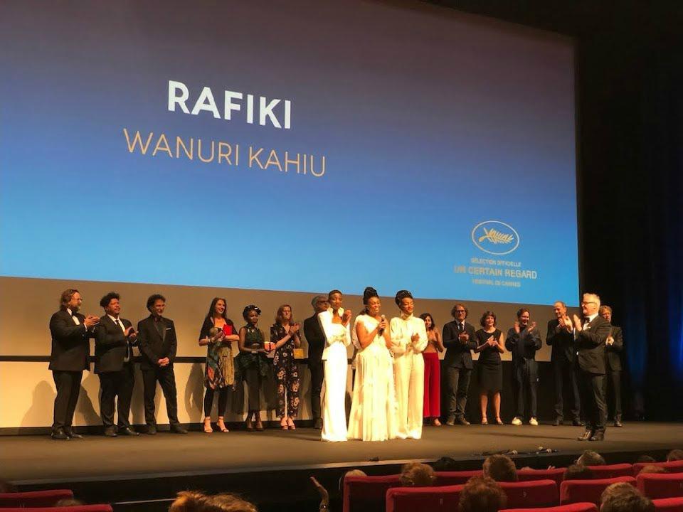 """ Rafiki "" Festival de Cannes Premiere - L-R: Sheila Munyiva,Samantha Mugatsia, and Wanuri Kahiu"