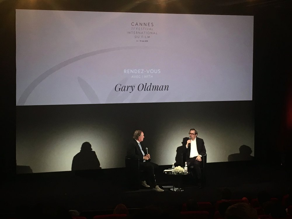 L-R Douglas Urbanski and Gary Oldman in conversation at the 71st Festival de Cannes / courtesy of I AM FILM