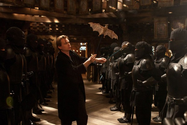 Christopher Nolan directing  Batman Begins  (2005)