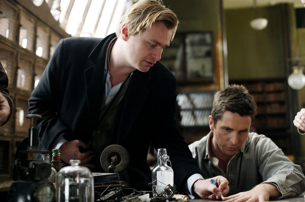 Christopher Nolan directing Christian Bale in  The Prestige  (2006)