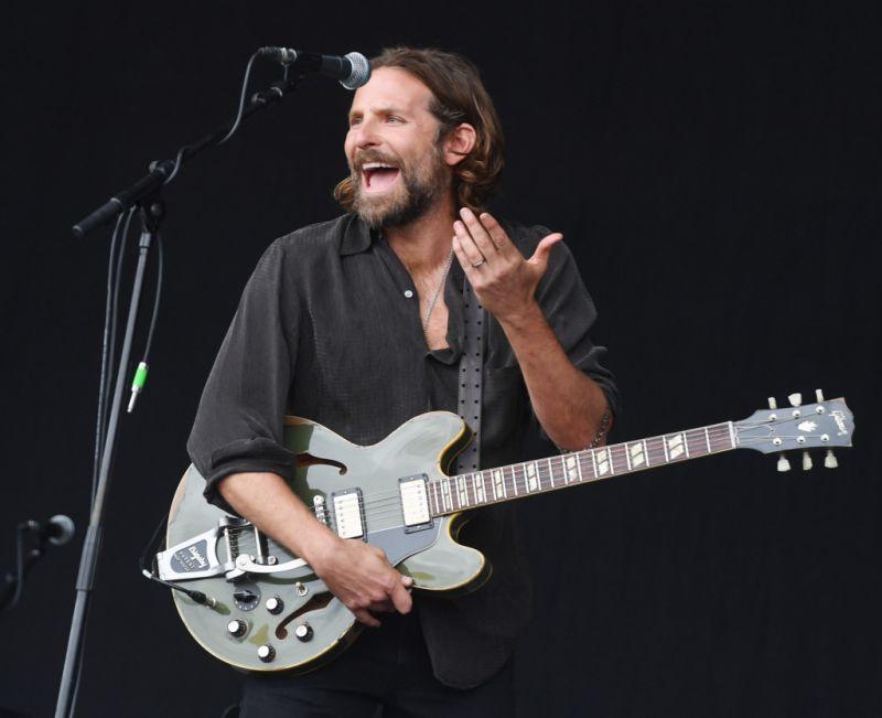 Bradley Cooper onstage at Glastonbury Music Festival, 2017 (credit: WENN)