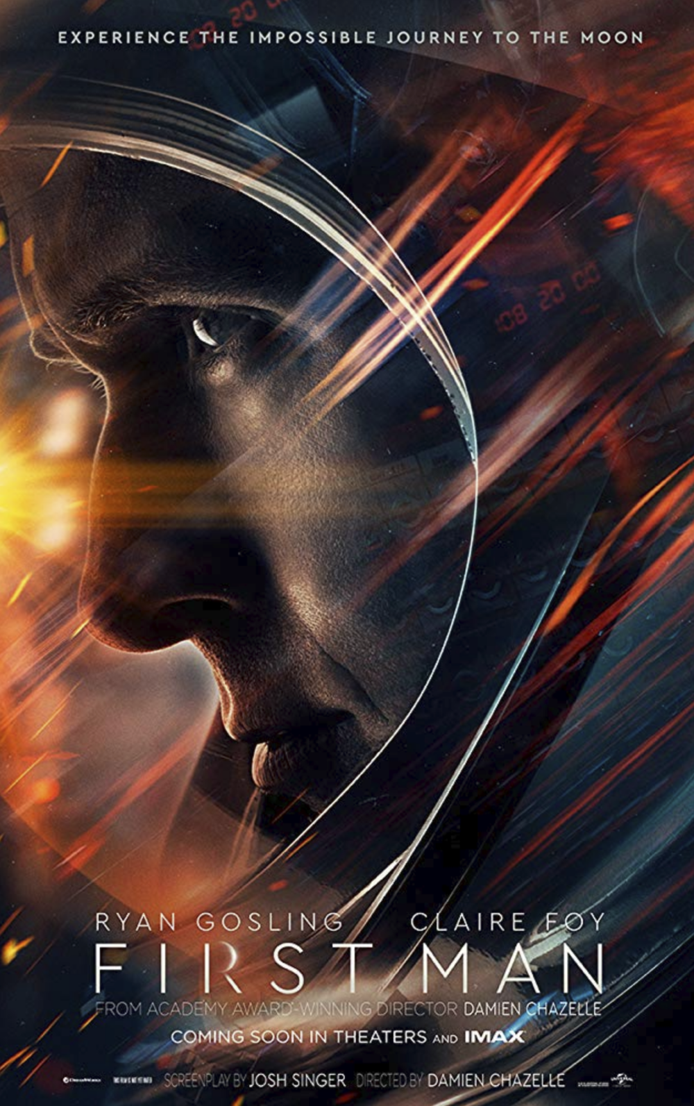 First Man  (2018) Movie Poster - courtesy of Universal Pictures