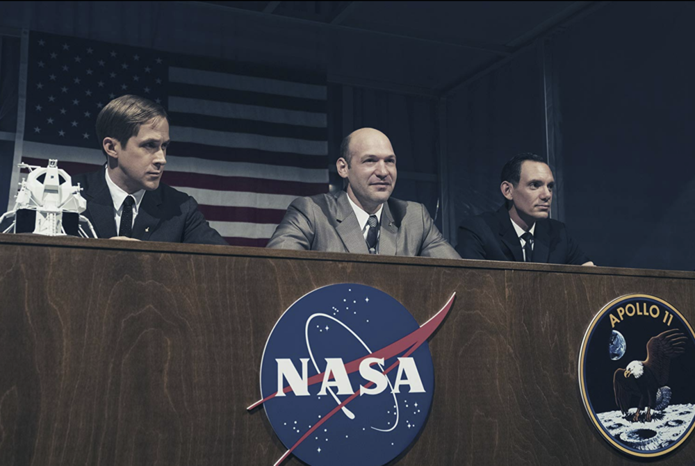 First Man  (2018) feat. Ryan Gosling as Neil Armstrong, Corey Stoll as Buzz Aldrin and Lukas Haas as Mike Collins - Image Credit: Daniel McFadden / courtesy of Universal Pictures