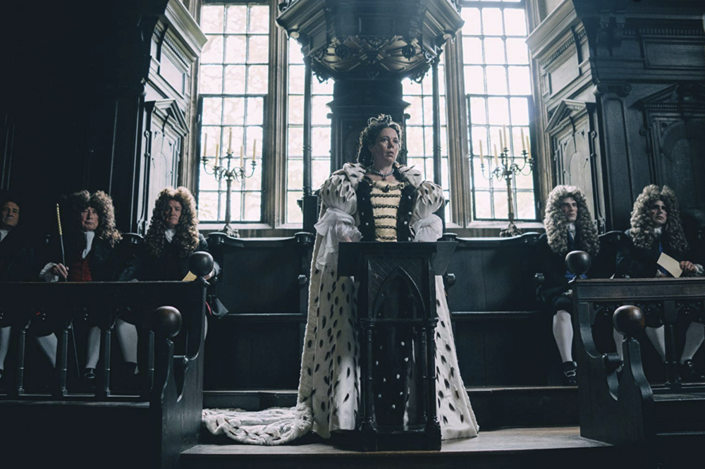 The Favourite  (2018) dir. Yorgos Lanthimos feat. Olivia Coleman as Queen Ann - courtesy of Fox Searchlight Pictures