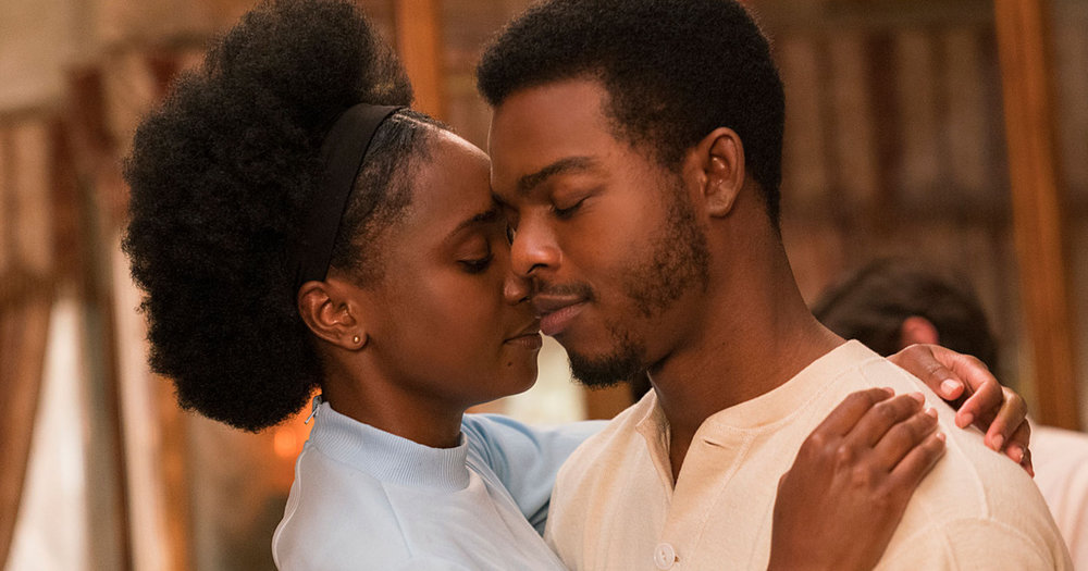 KiKi Layne and Stephan James in  If Beale Street Could Talk  (2018). Photo: Tatum Mangus - courtesy of Annapurna Pictures