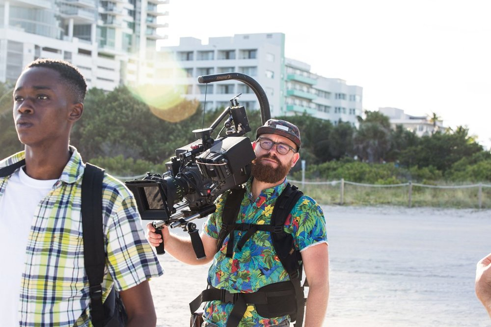 James Laxton on the set of  Moonlight -  courtesy of A24