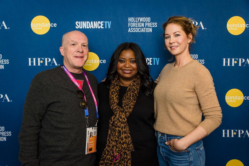 Cassian Elwes, Octavia Spencer and Jenna Elfman