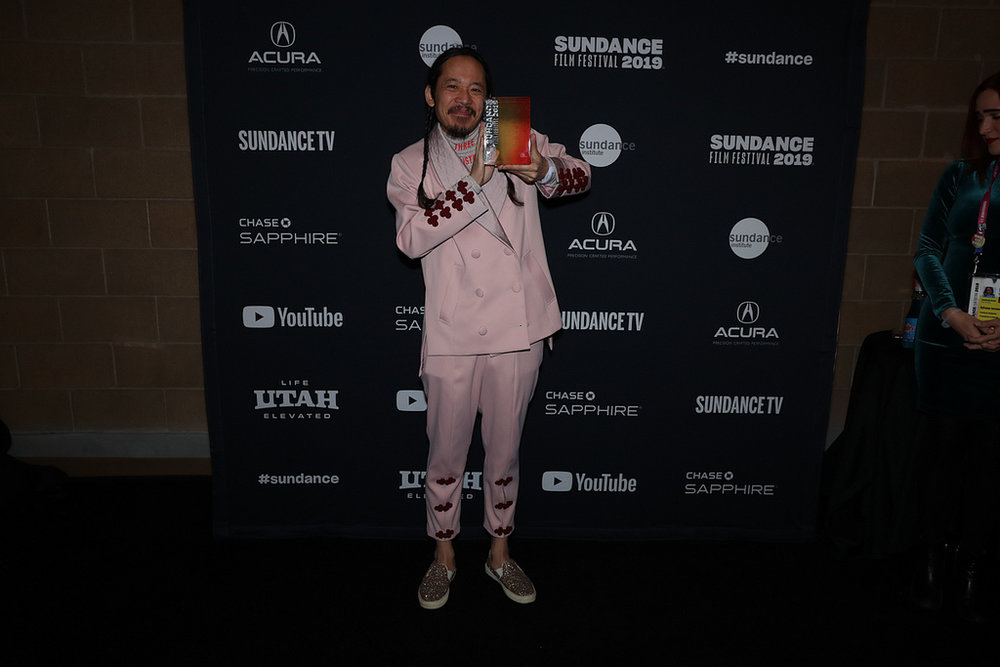 Makoto Nagahisa at the Sundance Awards 2019 - Courtesy of the Sundance Institute