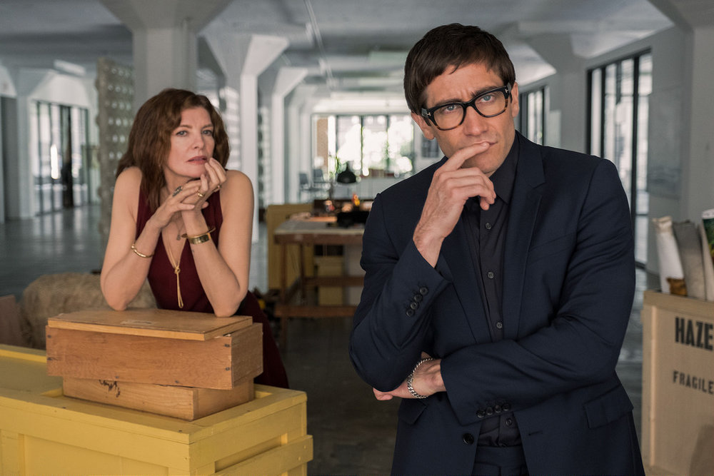 Velvet Buzzsaw  (2019) dir. Dan Gilroy feat. Rene Russo as  Rhodora Haze  and Jake Gyllenhaal as  Morf Vandewalt  - Courtesy of Claudette Baris/Netflix
