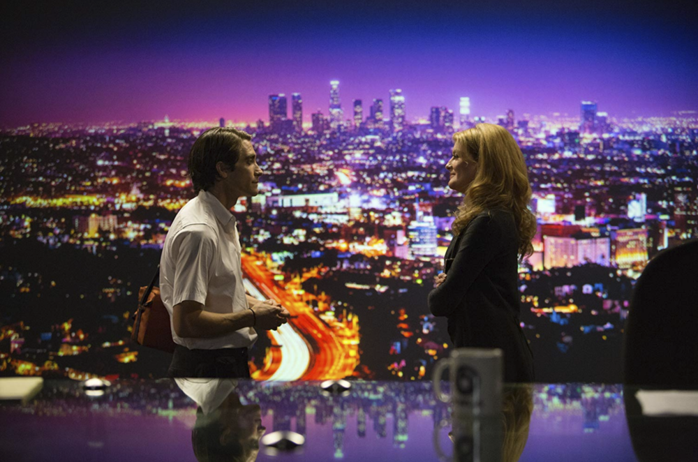 Jake Gyllenhaal and Rene Russo in  Nightcrawler  (2014) - Courtesy of Chuck Ziotnick/OpenRoad Films