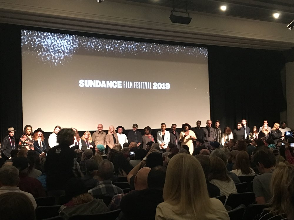 Clemency  (2019) full cast and key creatives answering questions at their Sundance World Premiere in Park City, Utah - © I AM FILM