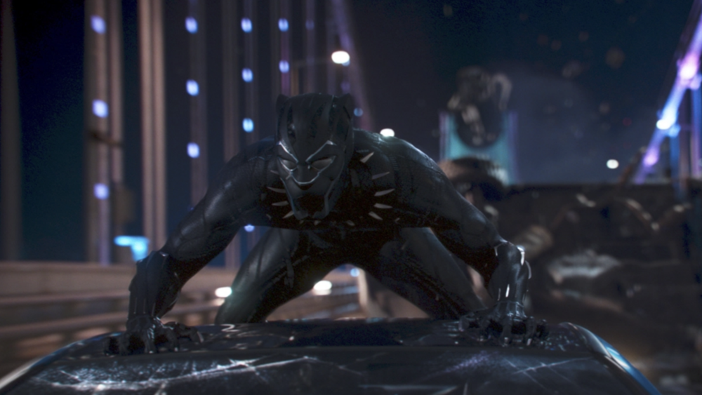 Chadwick Boseman in  Black Panther  (2018) - Marvel Studios