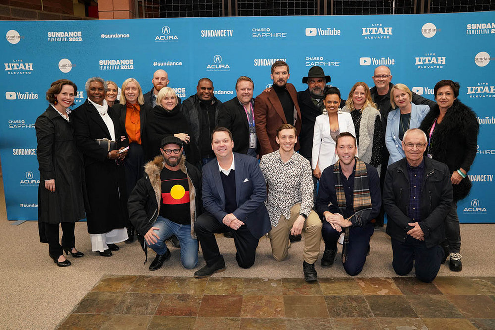 Film team attends the World Premiere of  Top End Wedding  by Wayne Blair an official selection of the Premieres Program at the 2019 Sundance Film Festival. © 2019 Sundance Institute | photo by Jemal Countess.