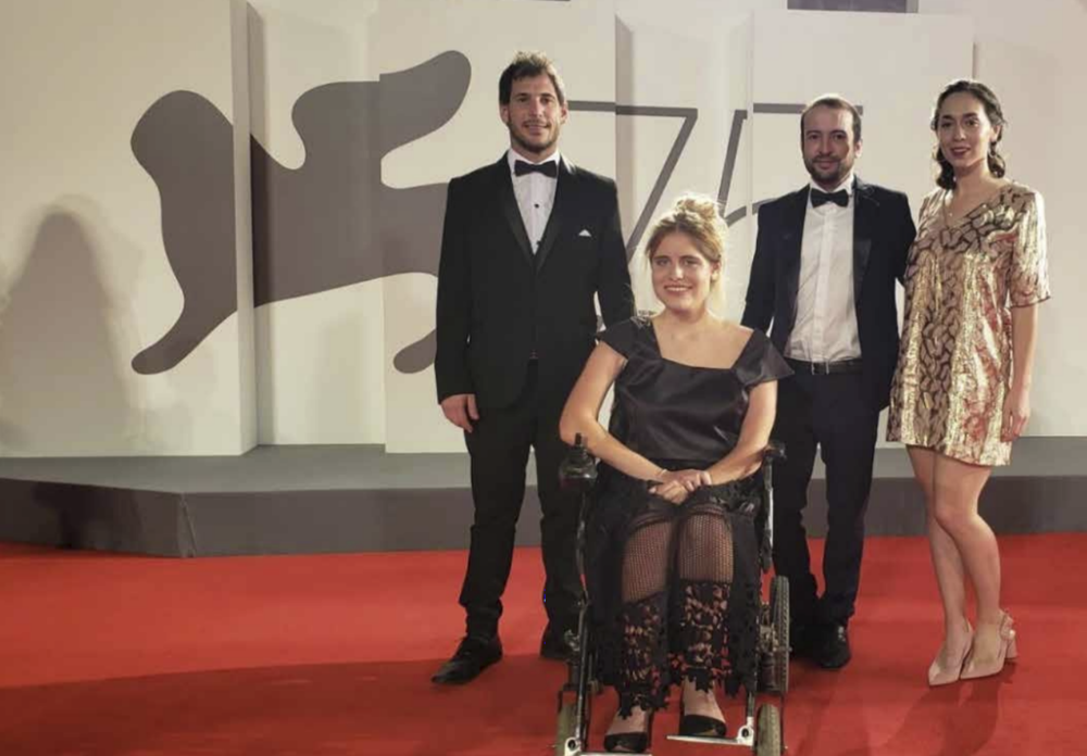 Damian Turkieh, Rosario Perazolo Masjoan, María Belén Poncio, and Ezequiel Lenardón at the premiere of  4 feet: Blind Date  at the 75th Venice Film Festival (2018) - Courtesy of the Artists