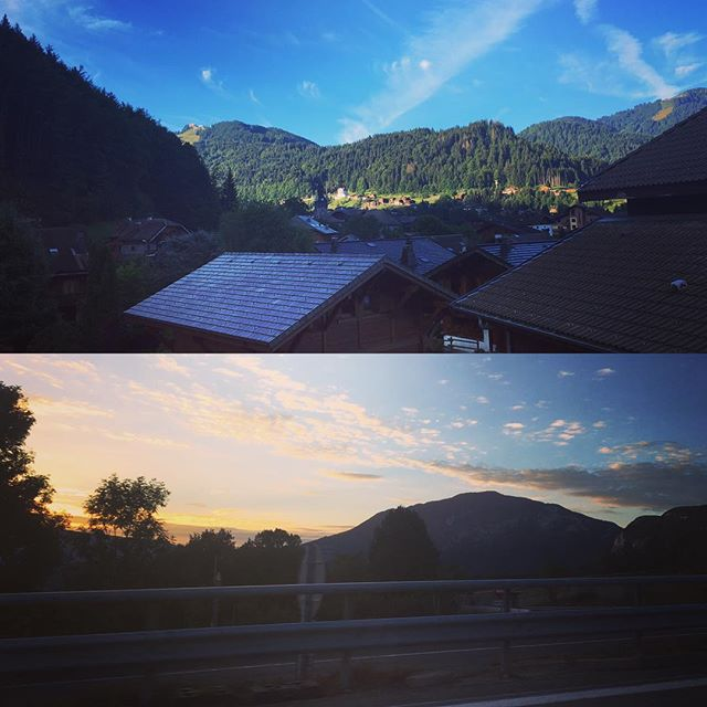 After a long drive yesterday we made it to the French Alps! What a way to wake up though...swapping a paint brush for a mountain bike this week #morzine #mountainbiking #onholiday 🚵🏻☀️😁
