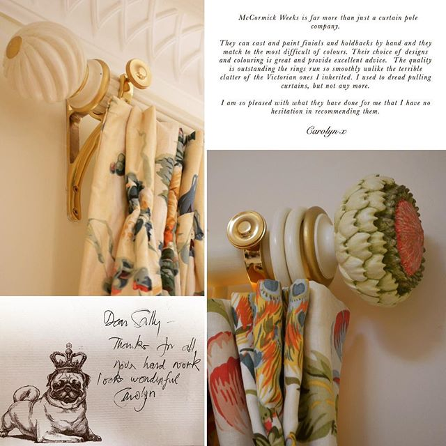 A lovely testimonial by a wonderful client. We love receiving finished window dressing images and feedback 📷#photography #mccormickweeks #interiordesign #happyclient #interiors #windowdressing #windows #curtains #finial