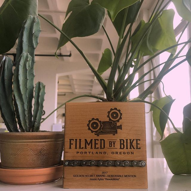 Thank you @filmedbybike for our fantastic award! It's taken pride place next to our succulents 🏆 ❤️ 🎥 🚴