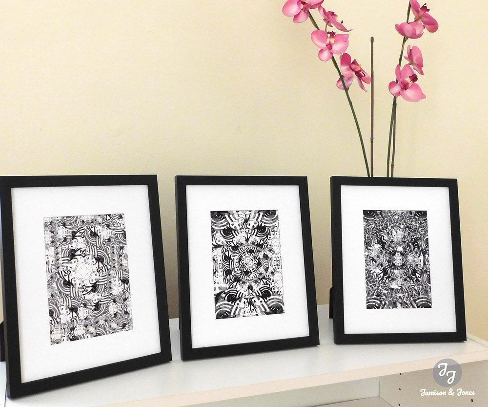 Black & White Kaleidoscope Collection