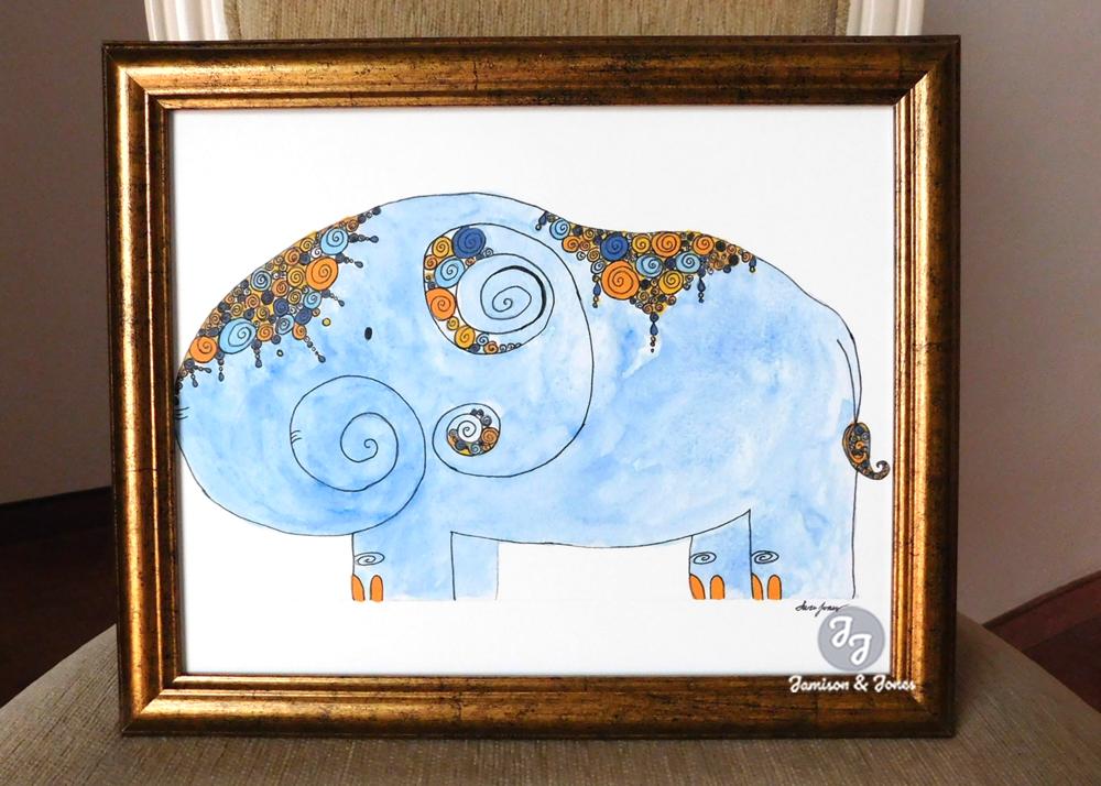 Blue Bali Elephant