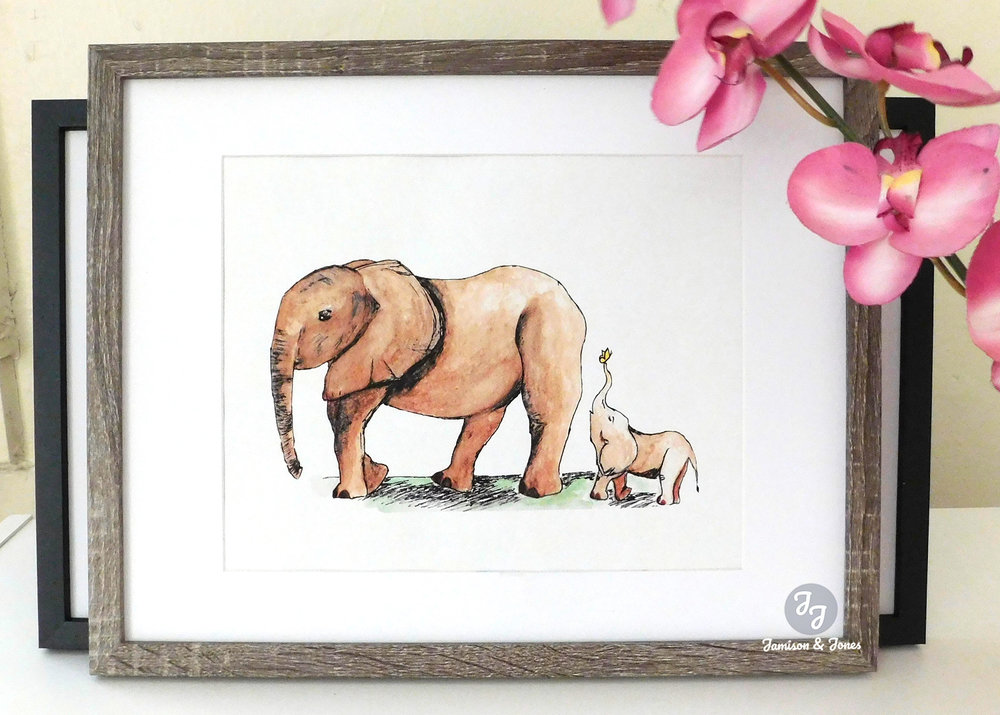 Elephant Mother & Baby